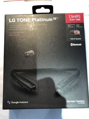 LG Tone Platinum 1120 Bluetooth Wireless Headset works with Google Assistant for Sale in Portland, OR