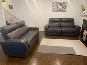 Reclining leather sofa(2) for Sale in Los Angeles, CA