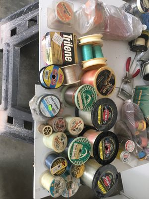 Fishing Reels, line, jigs, weights and bait for Sale in Irwindale, CA