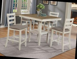 CLOSEOUTS LIQUIDATIONS SALE BRAND NEW COUNTER HEIGHT 5PC DINING TABLE SET INCLUDES TABLE AND 4 CHAIRS ALL NEW FURNITURE CM2630 WT for Sale in Pomona,  CA