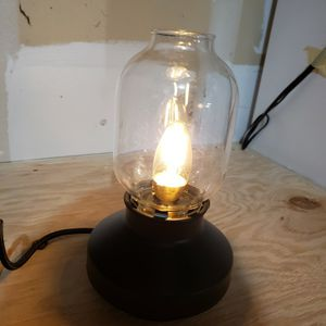Unique Glass Lantern Style Lamp With Heavy Braided Cord And Dimmer Switch. for Sale in Kent, WA