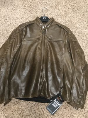 Triumph Leather Motorcycle Jacket-Armored-Brand New for Sale in Leesburg, VA
