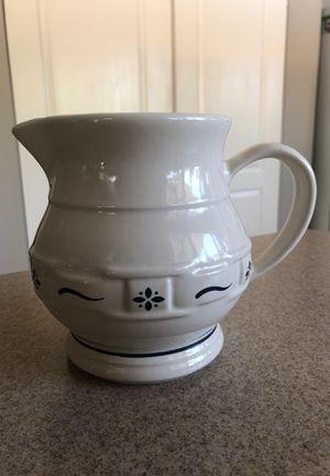 Longaberger Pottery Pitcher for Sale in Redlands, CA