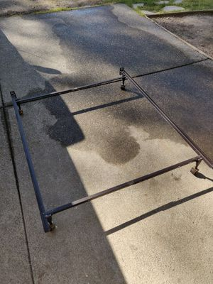 Twin/Full Size Bed Frame Metal w/Lockable Casters for Sale in La Center, WA
