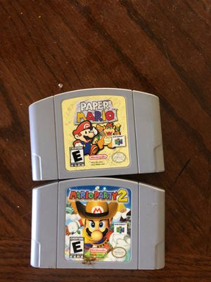 Mario party 2 and paper Mario for Sale in Lake Elsinore, CA