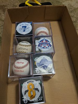 Collectable baseballs for Sale in Linwood, NC