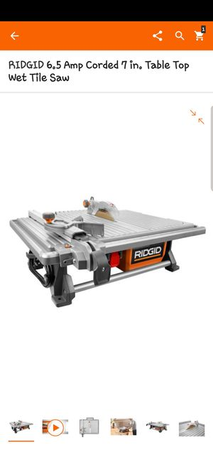 Rigid table tile saw for Sale in Loveland, CO
