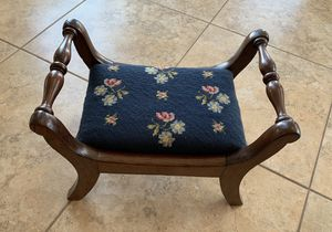 Needlepoint stool, antique for Sale in Charles Town, WV