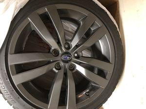 245/40 R18 Blizzak w/ OEM 2017 WRX wheels and OEM TPMS for Sale in Seattle, WA