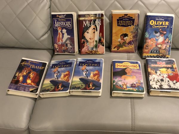 Disney Classic VHS tapes