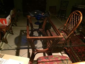Kitchen glass table with 6 chairs for Sale in Annandale, VA