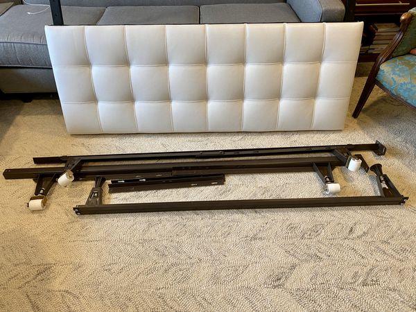 Queen Headboard & Metal Bed Frame