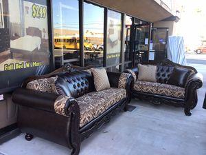 Classic sofa set 2pcs 🔥🔥🔥🔥 for Sale in Las Vegas, NV