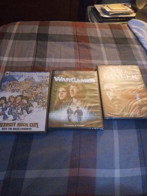 3 DVDs Detroit Rock City WarGames,JoJo Dancer for Sale in Gahanna, OH