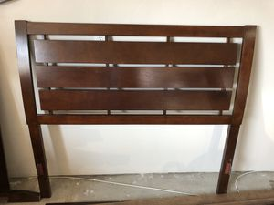 Brown wood full size bed frame for Sale in La Mesa, CA