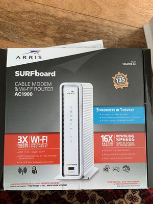 SURFboard Cable modem & wi-fi AC1900 for Sale in Takoma Park, MD