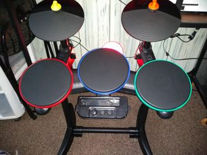 Wii. Drum set very cool and fun to l play with for Sale in Watertown, WI
