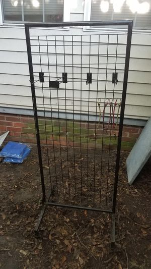 Rolling Black Display/For Sale Rack w/ 4 Movable Hooks to Hang Items for Sale in Cayce, SC