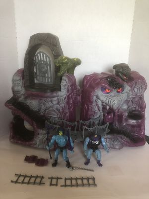 Vintage 1984 MOTU snake mountain (WORKS) with figures for Sale in College Grove, TN