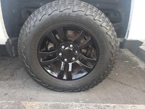 Chevrolet silverado wheels and tires for Sale in Anaheim, CA