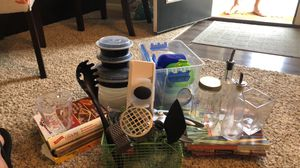 Kitchen utensils, Tupperware, cookbooks, and more! for Sale in Westerville, OH
