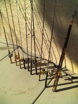 10 fishing poles for sale for Sale in Henderson,  NV