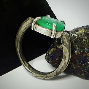 Emerald mokume ring for Sale in Avon, MA