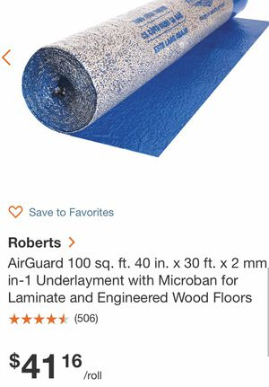 UNDERLAYMENT 3 100 sq ft rolls for Sale in Converse, TX