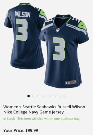 ON FIELD AUTHENTIC RUSSEL WILSON GAME JERSEY for Sale in Scottsdale, AZ