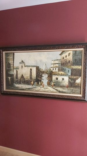 """Vintage Oil Painting on Canvas by """" Birchard"""" Excellent Condition for Sale in Lancaster, PA"""