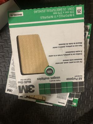 New 25 sheet count all purpose sandpaper for Sale in Hayward, CA