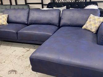 New Ink Blue Sectional Couch Only $50 Down Payment for Sale in Torrance,  CA