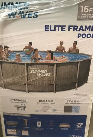 "NEW 16 foot 48"" deep pool for Sale in Renton, WA"