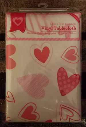 "Valentine's Day Vinyl Tablecloth 52""x70"" for Sale in Sumner, WA"