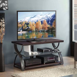 TV stand with glass shelf for Sale in Los Angeles, CA
