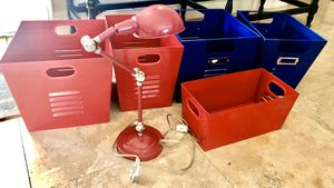 Pottery Barn Kids Lamp and Storage Bins for Sale in Palmetto Bay, FL