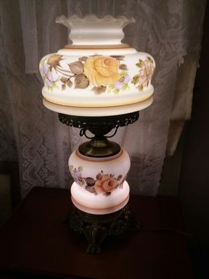 Beautiful Antique 2 Tier glass lamp for Sale in Hyde Park, MA