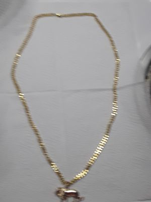 30 inch gold plated link chain with small gold plated lion 70 obo for Sale in Mechanicsburg, PA