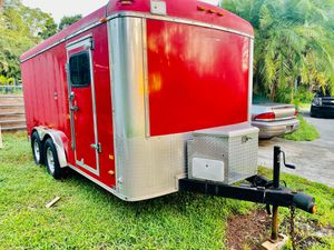Nice Enclosed Toy Hauler trailer Loaded Title in hand for Sale in Orlando, FL