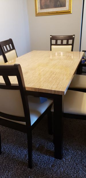 6 seat faux marble dining set for Sale in Aspen Hill, MD