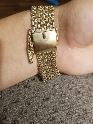 Gold plated silver bracelet for Sale in Mesa, AZ