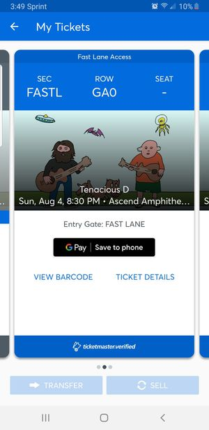 2 tenacious d general admission tickets for Sale in Columbia, TN