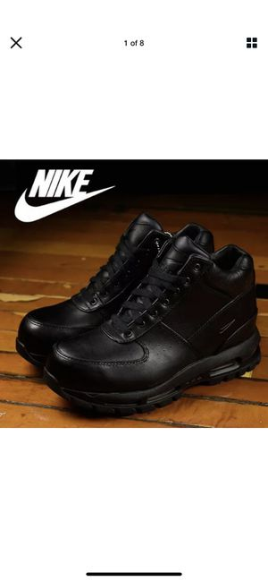 Nike ACG Air Max Goadome 2013 Leather Boots Triple Black Out 599474-050 SZ 10 for Sale in Dearborn, MI