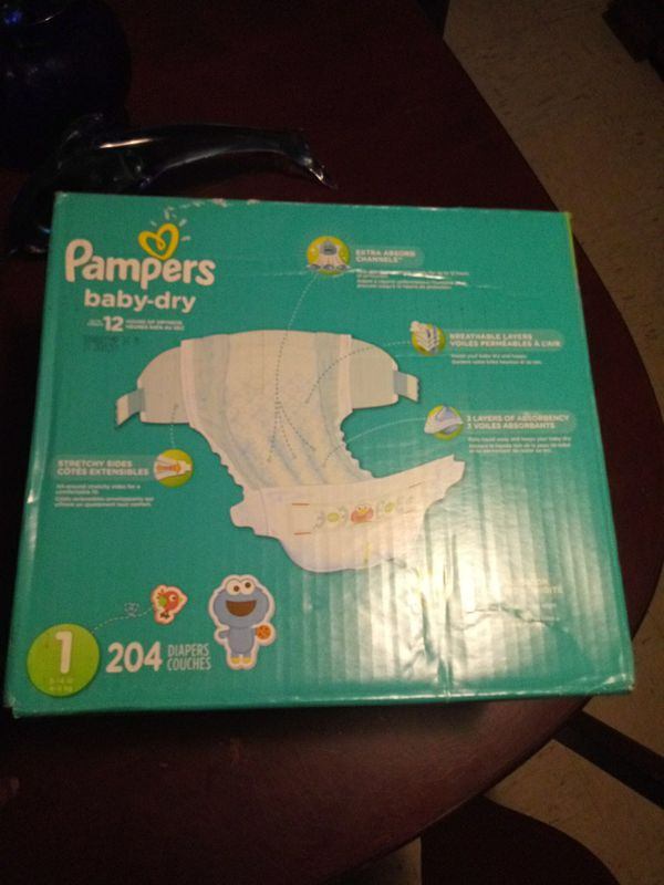 Pampers size 1 204 pampers 35$ need gone now