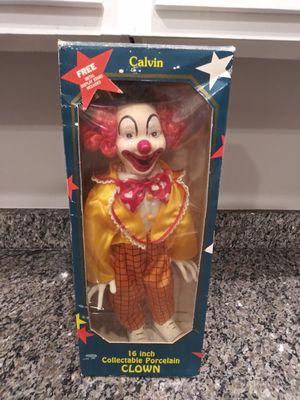 "16 ""CALVIN"" PORCELAIN CLOWN for Sale in Gaithersburg, MD"