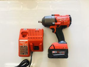"""Milwaukee M18 FUEL 1/2"""" Impact 1400lbs torque with 5.0 battery and charger, NEW!! for Sale in Ruskin, FL"""