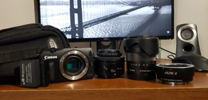 Canon EOS M with Lenses for Sale in Tampa, FL