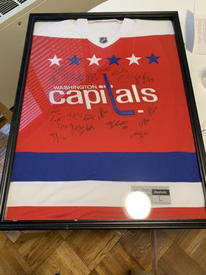 2017 Washington Capitals signed team sweater framed for Sale in Washington, DC