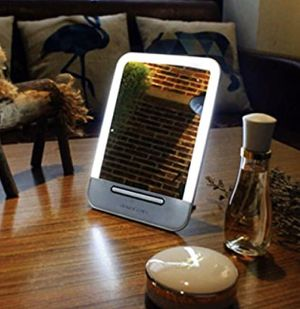 Led Lighted Makeup Mirror Rechargeable Touch pad for Sale in Richardson, TX