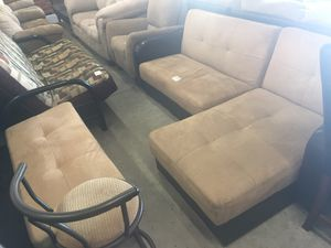 Small storage Sectional/Futon with storage ottoman ONLY $199.99 (WE DELIVER) for Sale in St. Petersburg, FL
